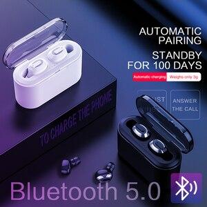 Image 1 - KSUN BT 01 TWS 5.0 auricolare Bluetooth 3D stereo auricolare senza fili con doppio microfono