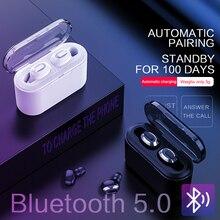 Ksun BT 01 Tws 5.0 Bluetooth Oortelefoon 3D Stereo Draadloze Oortelefoon Met Dual Microfoon