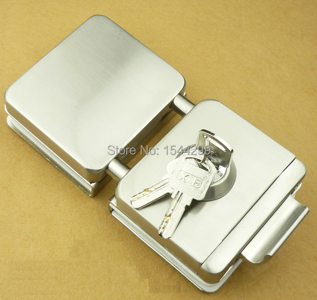 Double glass door lock with keys(one key hole and turning knob),glass clamp lock,gate lock,gate latch специальная отбеливающая зубная паста черное дерево 75 мл splat special