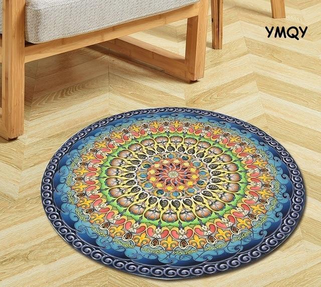 Runde Teppiche europa stil kreis matten jacquard computer kissen teppiche und