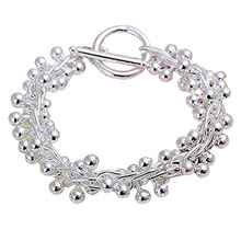 Beautiful Lady Jewelry solid silver Plated Crystal bracelet