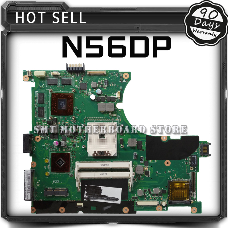 все цены на Original for ASUS N56D N56DP Laptop motherboard N56DP REV2.0 mainboard 60-NQOM1002-(C03) 100% tested онлайн
