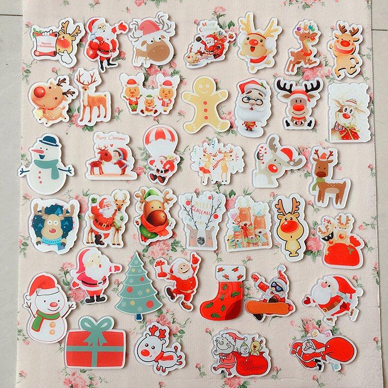 38pcs/set Christmas Gift Acrylic Badges Set Irregular Deer Cute Brooch Pins Backpack Clothes Decoration Brooches