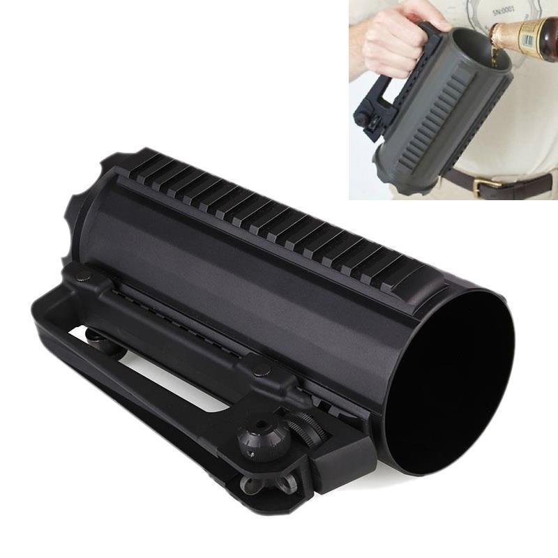 Hunting AR15 M4 gun accessories Tactical Beer Cup Water Cup Battle Rail Mug Detachable Carry Handle With Mechanical Rear Sight (10)