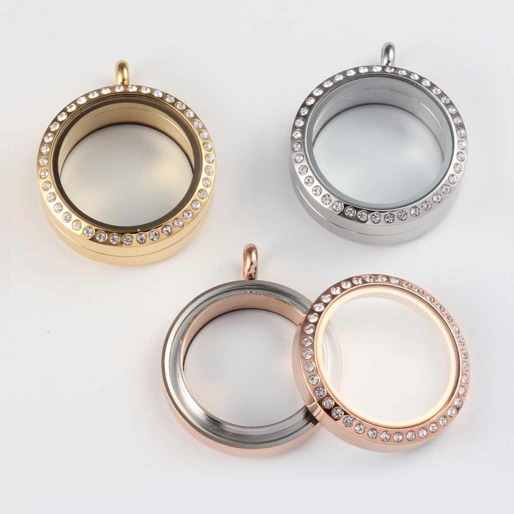URSJEWELRY wodoodporny medalion na 8mm perła 316L medalion ze stali nierdzewnej szkło żywe wspomnienie pływający medalion na perły z łańcuchem