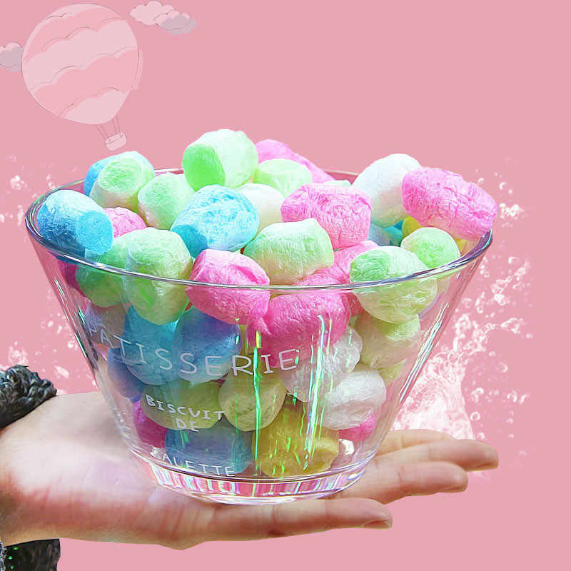 1 Bag Fun Crystal Fluffy Slime Silkworm Shell Clay Mud Educational Toys for Children DIY Handmade Filling Material Bubble Grains