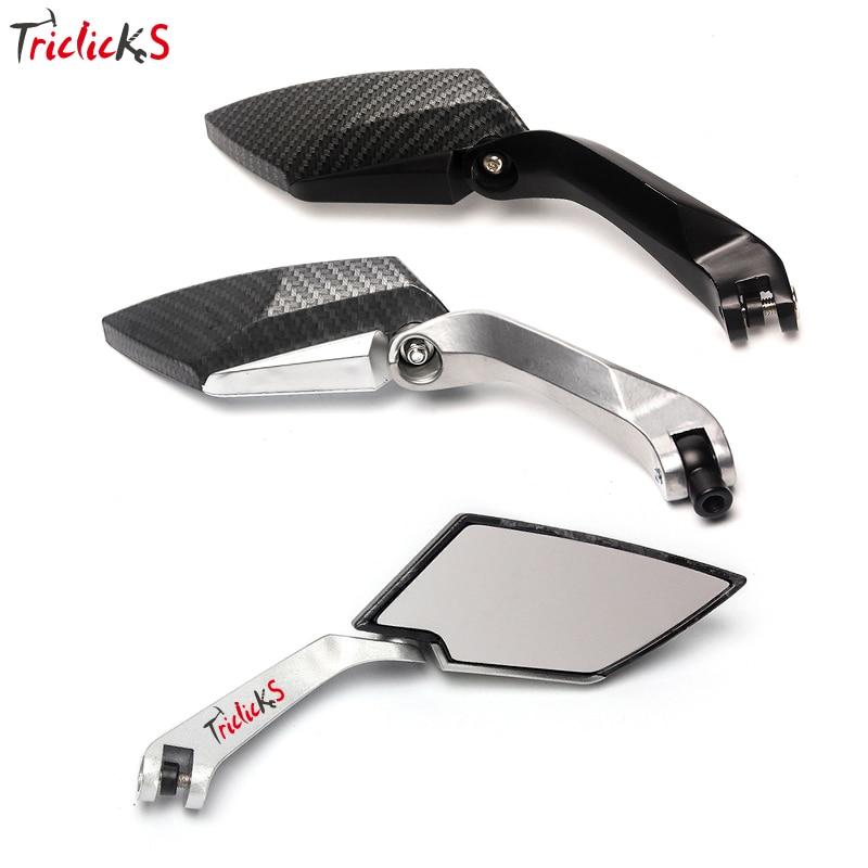 Triclicks 8mm 10mm závit Zadní pohled Zrcadla Motocyklové boční zrcátko CNC Nové zpětné zrcátko pro Harley kola Chopper Crusier Touring