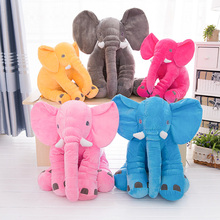 цена на 33cm/40cm/60cm Height Plush Elephant Doll Toy Sleeping Cute Stuffed Elephant Baby 6 Colors Option Cushion Pillow Doll Xmas Gift