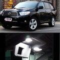 12v 7pcs LED Bulb Interior  Dome Map trunk  door  Lights Package Kit For Toyota highlander 2009-2012 car-stying