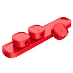 Baseus 자기 케이블 클립 휴대 전화 USB 데이터 케이블 주최자 USB 충전기 케이블 자기 홀더 데스크탑 케이블 와인 더