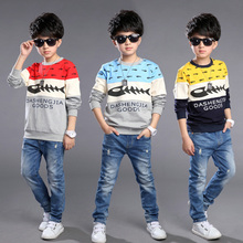 Chinese Blouse Boy 2-12years Blouse Children Cartoon Blouse For Boys Children Spring Autumn American T-Shirt For Boys