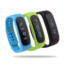 Fashion Smart Bracelet Wristband E02 Health Fitness Tracker Bluetooth Smart Band Watch for IOS Android Better than Xiao Miband