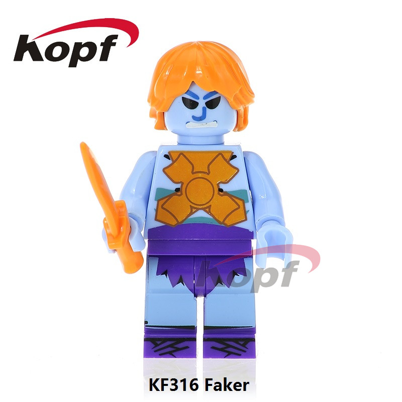 Super Heroes Faker He Man Heman He-man Masters Of The Universe Motu Classic Skeletor Building Blocks Toys for children KF316 moc the iron man work station hall of armor war machine super heroes avengers building blocks kids toys not include minifig
