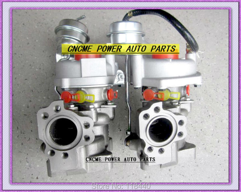 K03 53039880016+53039880017 Twin Turbos Turbocharger For AUDI S4 97-01 A6 99-01 AJK ARE AZB AGB V6 2.7L 265HP (4)