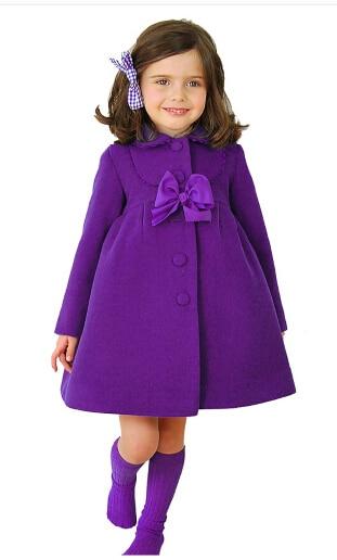 3 couleurs filles hiver chaud manteaux et veste, enfants hiver haute qualité solide à manches longues laine manteau, bébé filles Outwear pour 3-8Yrs