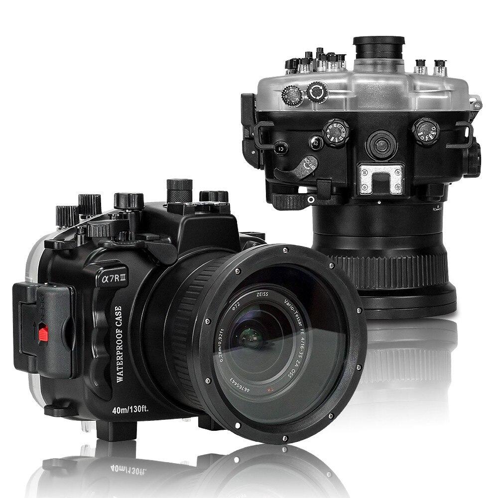 Sac de boîtier de caméra sous-marine de 40 m/130ft de gens de mer sacs de caméra imperméables pour l'appareil-photo de Sony A7 III A7R III A7M3