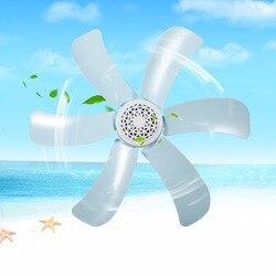 220 V energii elektrycznej wentylator gospodarstwa domowego wiatr wentylator dmuchawy 6 ostrza energooszczędne oświetlenie sufitowe wentylator niebieski kolor