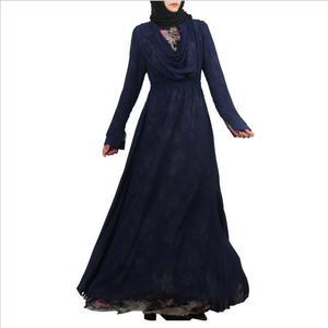 Adult Muslim lace stitching fake two pieces abaya fashion dubai islamic beautiful abayas wq740 prayer service clothing dropship