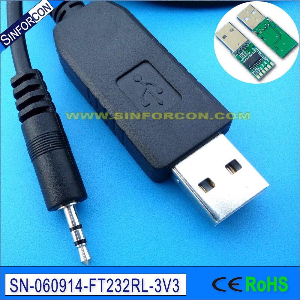 win7 8 10 אנדרואיד מק Ftdi ft232r USB uart ttl 3v3 כבל - כבלים למחשב ומחברים