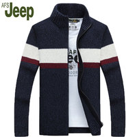 AFS JEEP Battlefield Jeep 2017 Explosion Models Promotional Latest Autumn And Winter Fashion Casual Cardigan Sweater