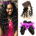 360 Lace Frontal With Bundle Loose Wave With Frontal Pre Plucked 360 Frontal With Bundles Brazilian Loose Wave With 360 Closure