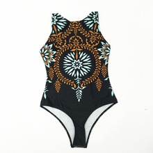 Striped Women One Piece Swimsuit High Quality Swimwear Printed Push Up Monokini Summer Bathing Suit Tropical Bodysuit Female стоимость