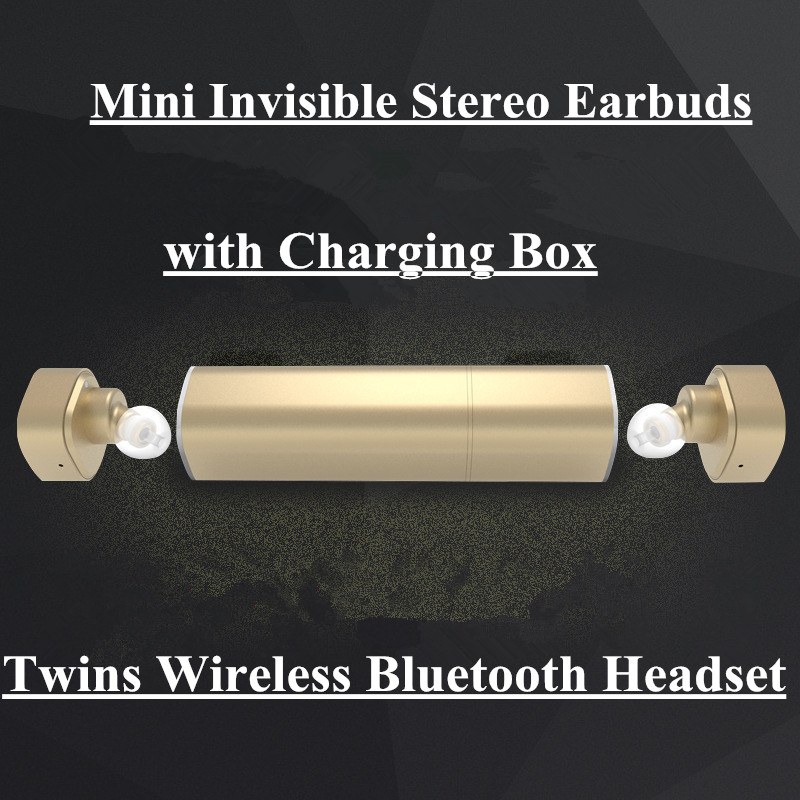 Q29 Mini Invisible Bluetooth Twins Headset Wireless in Ear Headphones Double Earpiece Stereo Earbuds Lipstick Mobiles Earphones