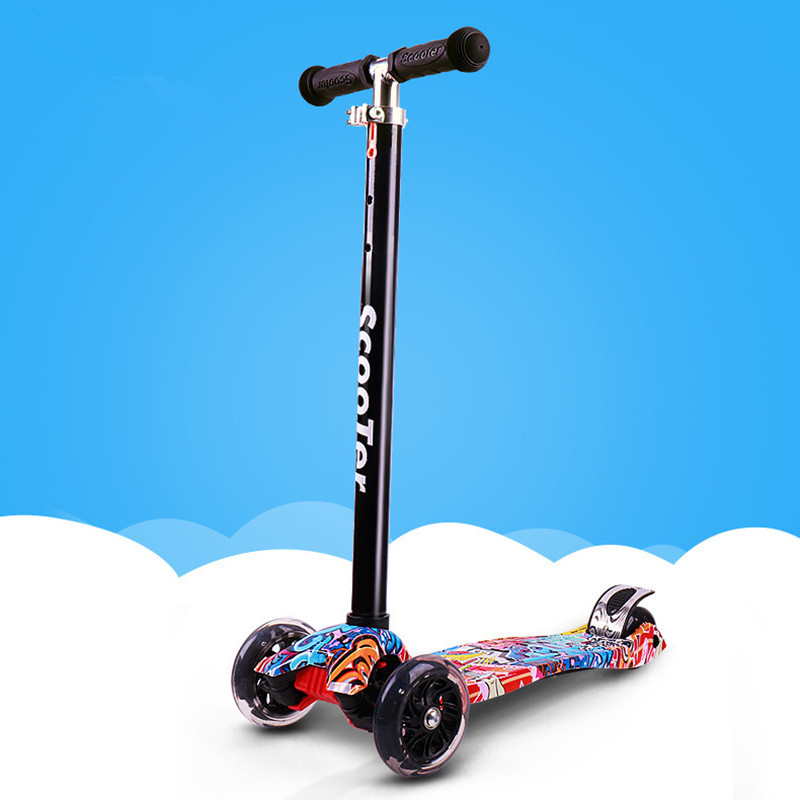 Portable Kids Scooter Height Adjustable Freestyle City Kick Scooter Fancy Children Toys Gift for Kids 1PCPortable Kids Scooter Height Adjustable Freestyle City Kick Scooter Fancy Children Toys Gift for Kids 1PC