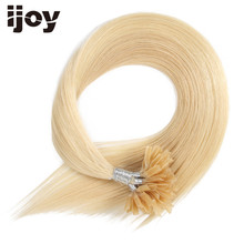 "IJOY 20 ""Remy Straight Nail U Tip Extenze na vlasy 60G / 100Výrobky Brazilské pravé vlasy Prefarbené Keratinové Tipy Lidské vlasy # 613"