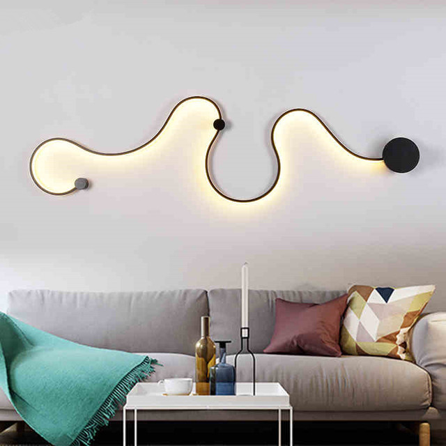 Modern Minimalist LED Wall Lamp Bedside Bedroom wall Light ...