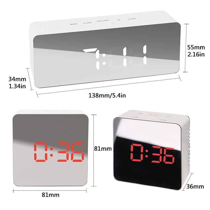 Image 5 - Digital Watch table alarm digital clock despertador LED Snooze Night Lights Temperature Table Kitchen bathroom Desk Decoration-in Alarm Clocks from Home & Garden