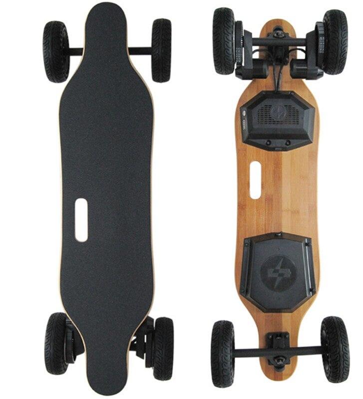 2017 Novo 4 Roda SUV Hoverboard Longboard Skate Elétrico 1800 W 8800 mAh Off Road Scooter de Motor Duplo com Controle Remoto controlador