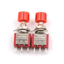 5 Pcs 3Pin C-NO-NC 6 Mm Mini Sesaat Otomatis Kembali Push Button Switch Di-(Pada) 2A 250V AC/5A 120V AC Toggle Switch Merah(China)