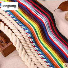 10 meters/lot diameter 5mm 10mm 15mm pure cotton woven rope, beam string, binding yarn, DIY handmade accessory T498