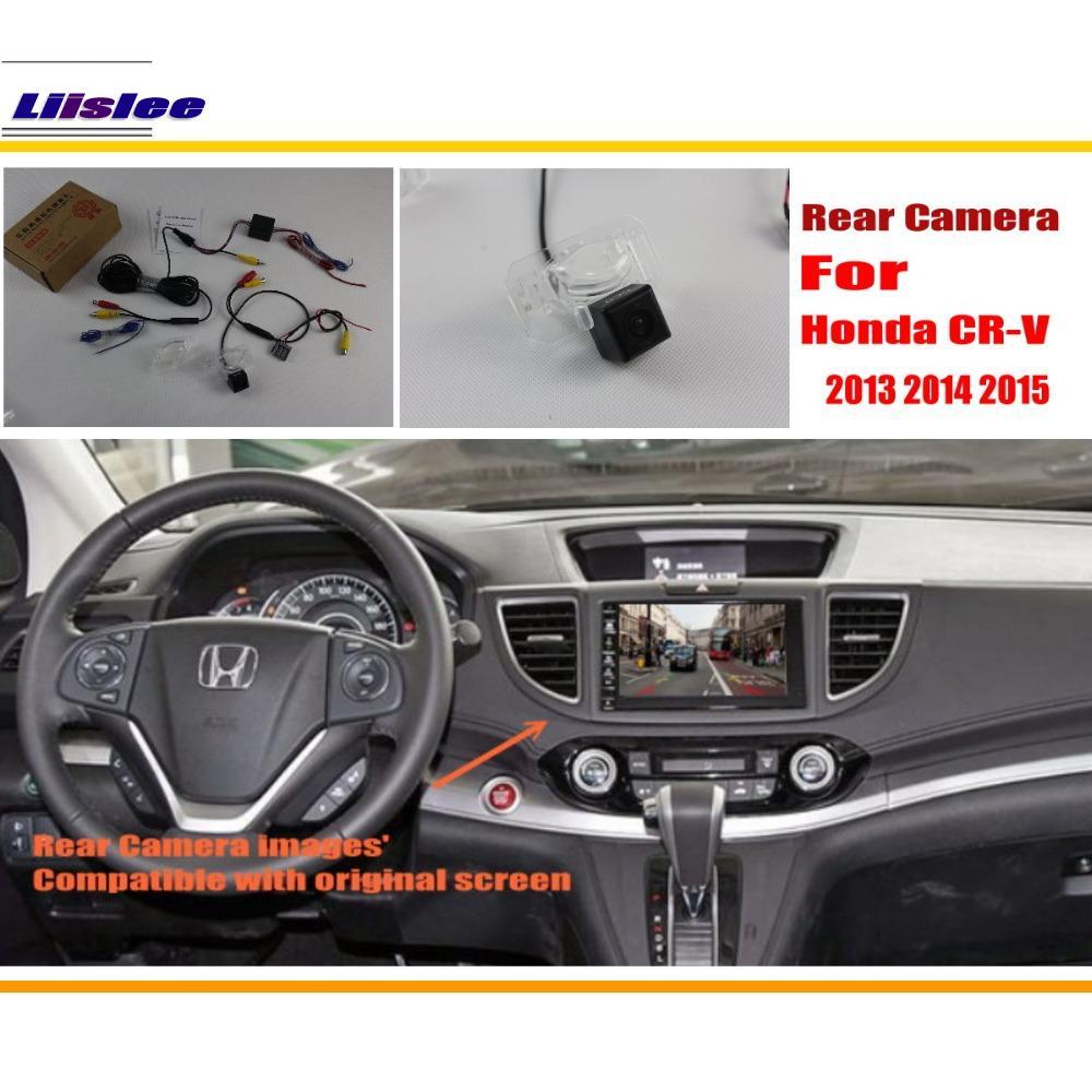 Liislee avtomobilske kamere za vzvratni pogled / nazaj vzvratne kamere za Honda CR-V CRV 2013 2014 2015 / RCA in originalni zaslon združljiv