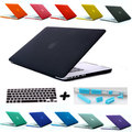 Hot sale special gift Matte Surface laptop hard cover case for 11 13 15 macbook air pro retina + French AZERTY  keyboard cover