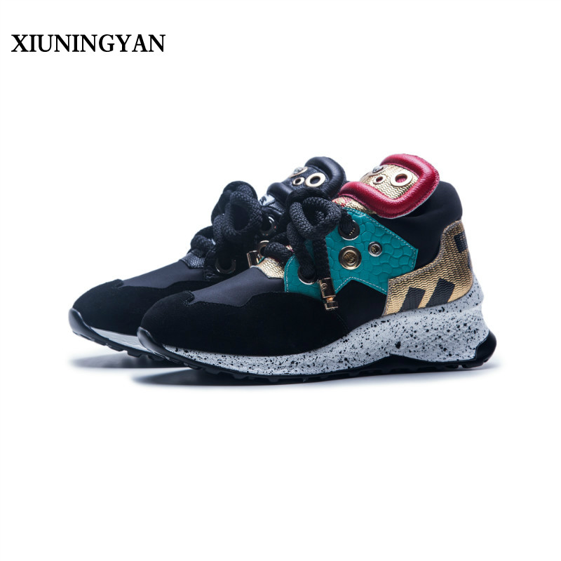forme Appartements Femmes Confort Sport 2018 Plate Mode Simple Couleurs Noir rouge Bout Casual Sneakers Respirant Mélangées Xiuningyan Rond Chaussures vO80wnmyNP