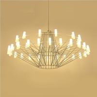 Large LED Modern Chandelier With Metal Frame