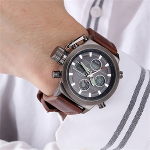 Image 5 - Male Fashion Sport Military Wristwatches 2020 New AMST Watches Men Luxury Brand 5ATM 50m Dive LED Digital Analog Quartz Watches