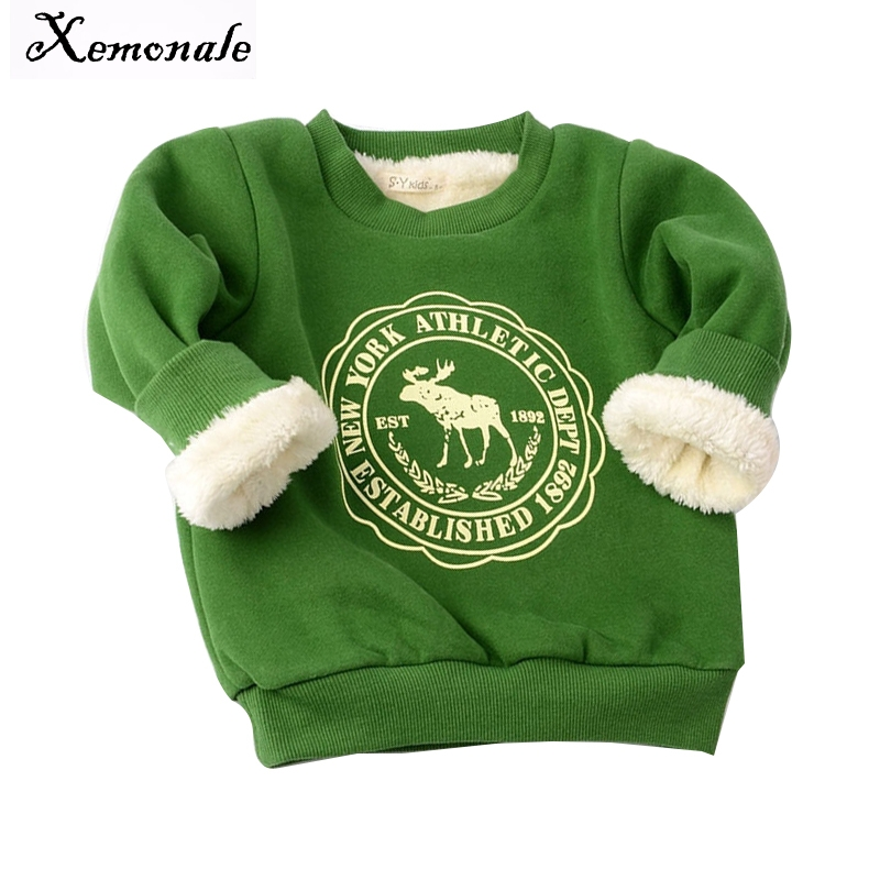 Xemonale Winter Children Cartoon sweaters Kids Girls Boys Long Sleeve Casual Thicken warm shirt Sweaters Baby Clothes