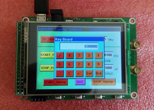 Generador de señal ADF4351 módulo con pantalla táctil TFT a color STM32 de frecuencia de barrido fuente de señal W-CDMA TD-SCDMA WiMAX GSM piezas DCS DECT