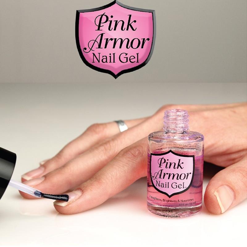 Pink Armor Nail Gel Polish 1pc Transparent Nail Gel Polish