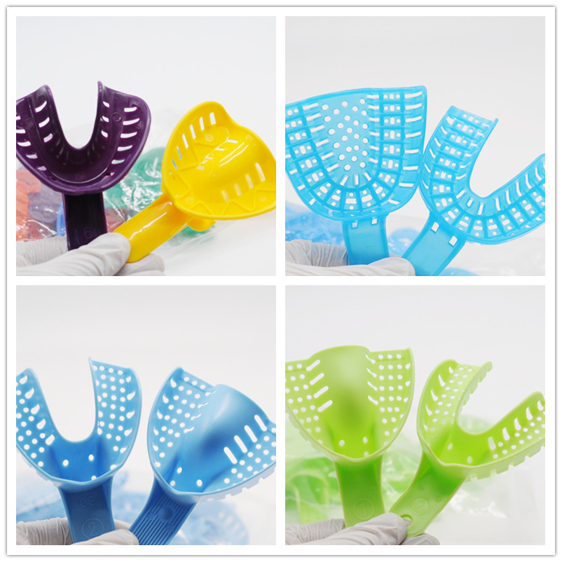 Dental Lab 4Type Plastic Impression Trays Autoclavable Central Supply