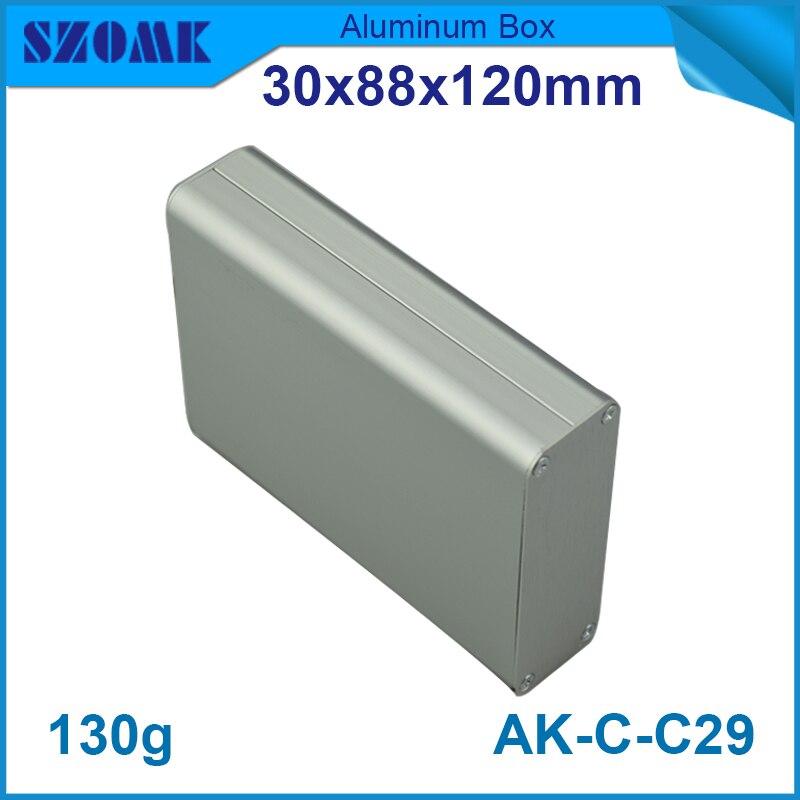 10 pieces a lot Extrusion aluminum pcb instrument box case project enclosure electronic diy design 30