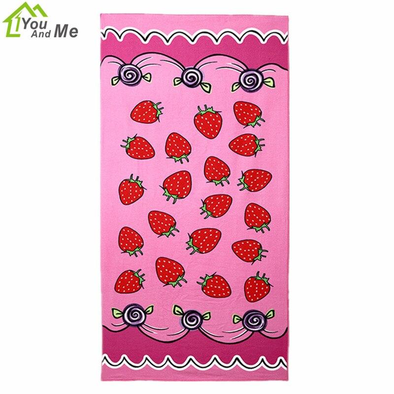 Textiles para el hogar 70*150 cm microfiber bath towel rosa fresa adultos beach