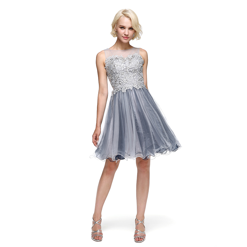 TS Couture Ball Gown Fit & Flare Illusion Neckline Knee Length Tulle ...