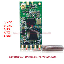 2pcs/lot HC-11 433MHz Wireless Radio Frequency RF Serial UART Module C1101 AT Command Low Power Consumption W1609