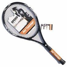 Новинка, Высококачественная теннисная ракетка из алюминиевого сплава, углеродное волокно, для мужчин и женщин, ультра-светильник для тренера, для тренировок