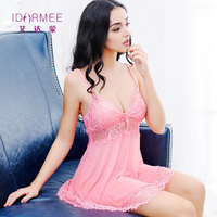 IDARMEE S6581 Baby Doll Sexy Lingerie Plus Size Transparent Lace Sleepwear Porn Dress Erotic Babydoll Sexy