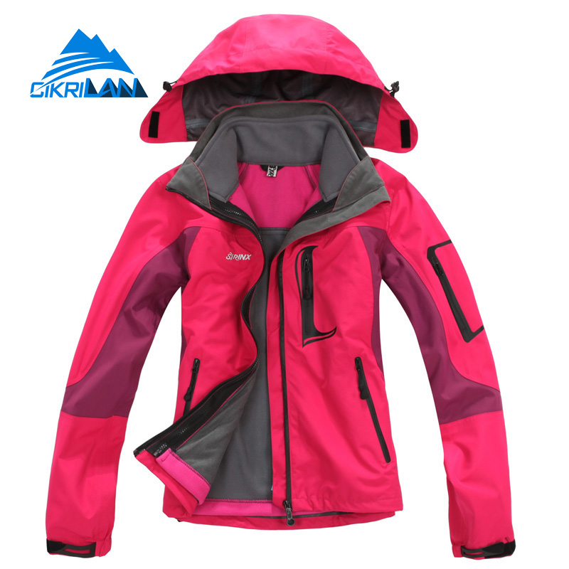 ФОТО Hot Sale 2016 Climbing Chaquetas Mujer Windbreaker Outdoor Jacket Women Hiking Casaco Camping Winter Skiing Water Resistant Coat
